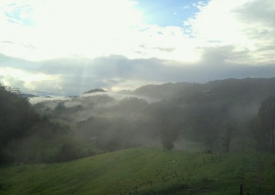 Mist over the valley.